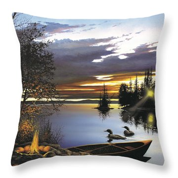 Loon Lake Throw Pillow