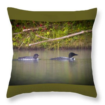 Loons 1 Throw Pillow