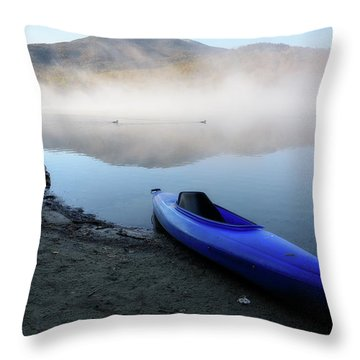 Loons Crossing Throw Pillow