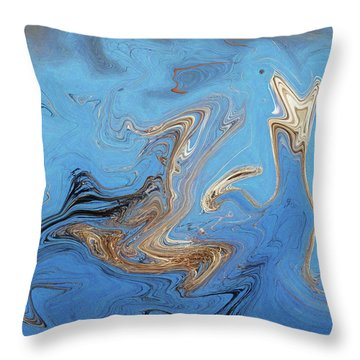 Loop Pond Dance Throw Pillow