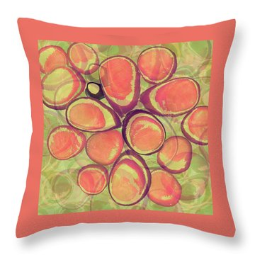 Loopy Dots #13 Throw Pillow