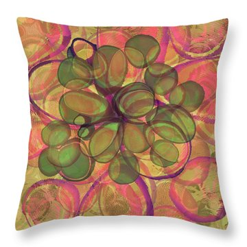 Loopy Dots #20 Throw Pillow