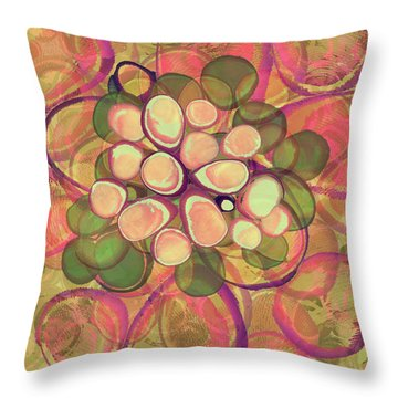 Loopy Dots #21 Throw Pillow