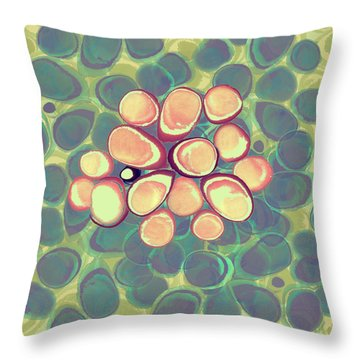 Loopy Dots #5 Throw Pillow