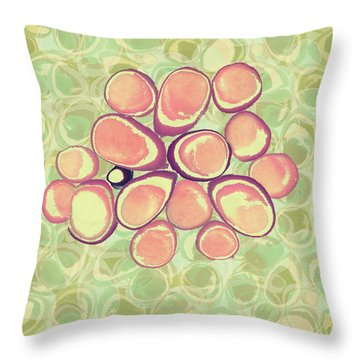 Loopy Dots #6 Throw Pillow