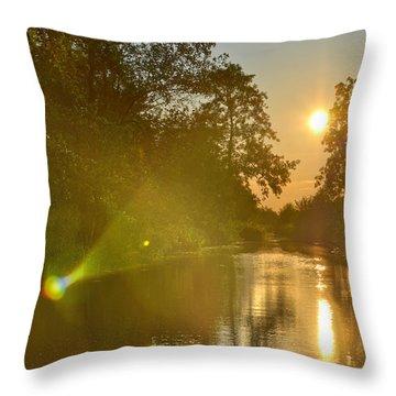 Loosdrecht Lensflare Throw Pillow