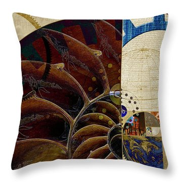 Throw Pillow featuring the digital art Loose Change by Kenneth Armand Johnson