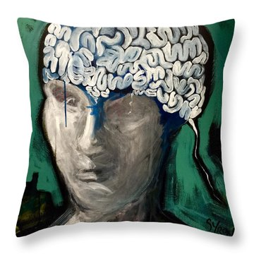 Loose Ends Throw Pillow by Helen Syron