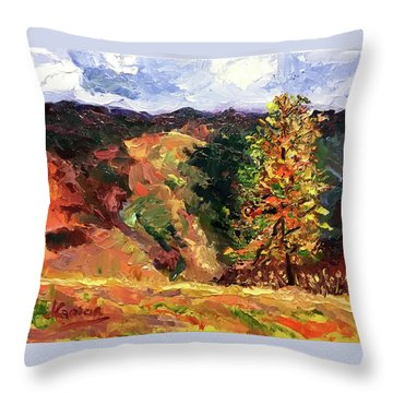 Loose Landscape Throw Pillow by Janet Garcia