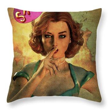 Loose Talk Throw Pillow