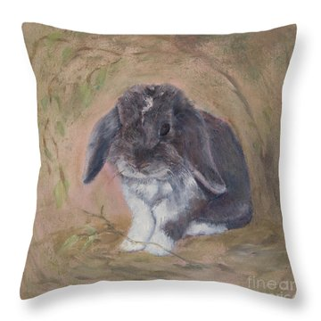 Lop Eared Rabbit- Socks Throw Pillow