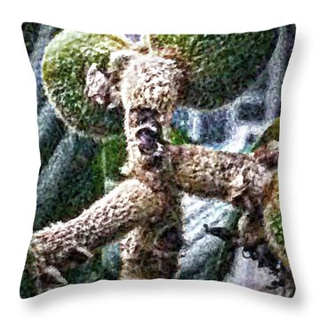 Loquat Man Photo Throw Pillow