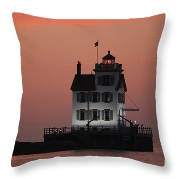 Lorain Lighthouse 1 Throw Pillow