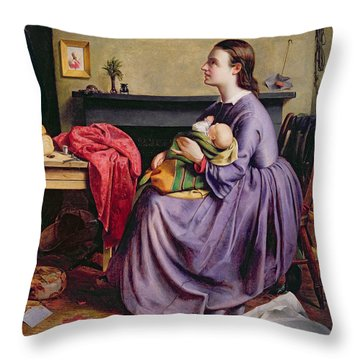 Lord - Thy Will Be Done Throw Pillow by Philip Hermogenes Calderon