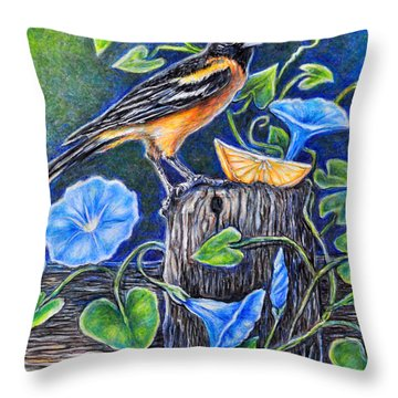 Lord Baltimore's Breakfast Throw Pillow by Gail Butler