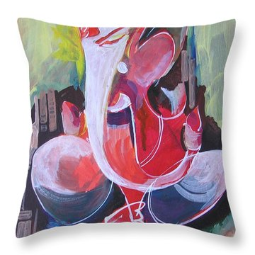 Lord Ganesha- Unique Abstraction Throw Pillow by Chintaman Rudra