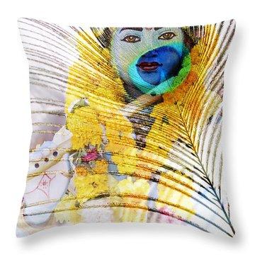 Lord Krishna Throw Pillow