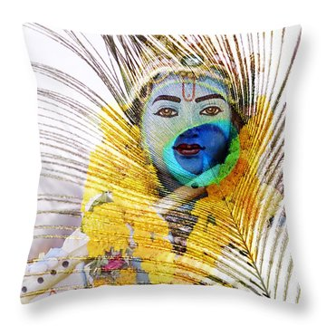 Lord Krishna Throw Pillow