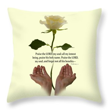 Lord, O My Soul Throw Pillow