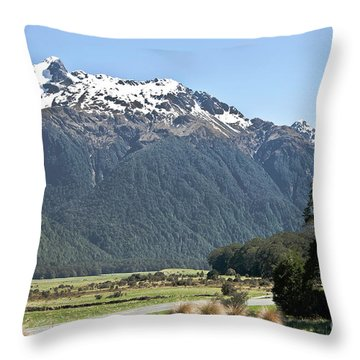 Lord Of The Rings Locations, New Zealand Throw Pillow