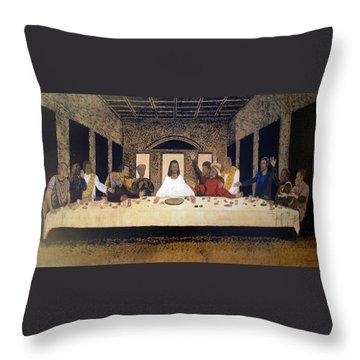 Lord Supper Throw Pillow