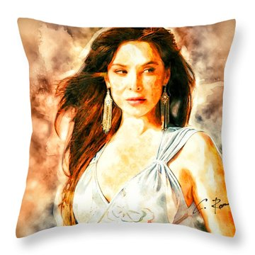 Lorena Rojas Throw Pillow