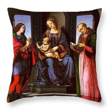 St Nicholas Of Myra Throw Pillows