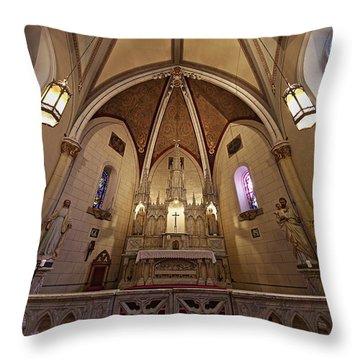 Loretto Chapel Throw Pillow