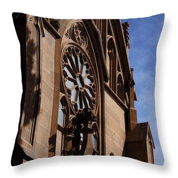 Loretto Chapel In Santa Fe Nm Throw Pillow