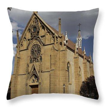 Loretto Chapel - Santa Fe Throw Pillow by Mike McGlothlen