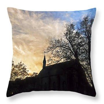 Loretto Church Santa Fe  Throw Pillow