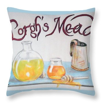 Lorgh's Mead Throw Pillow