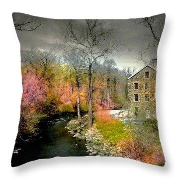 Lorillard Mill Throw Pillow
