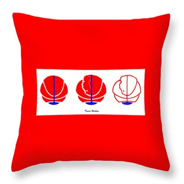 Throw Pillow featuring the digital art Los Angeles Clippers Logo Redesign Contest by Tamir Barkan