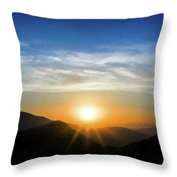 Los Angeles Desert Mountain Sunset Throw Pillow