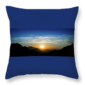 Throw Pillow featuring the photograph Los Angeles Desert Mountain Sunset by T Brian Jones
