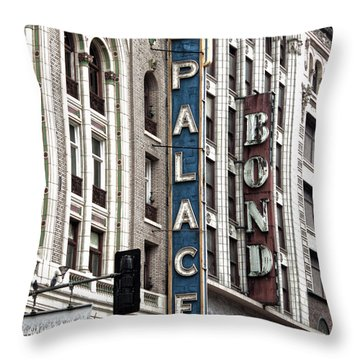 Los Angeles Downtown On Broadway Throw Pillow