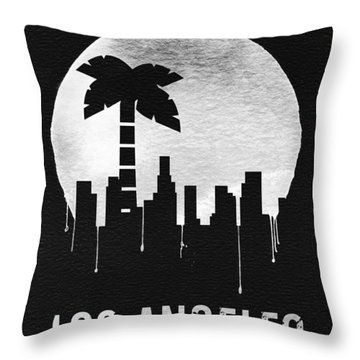 Los Angeles Landmark Black Throw Pillow
