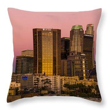 Los Angeles Moonrise 2014 Throw Pillow by Joe Doherty