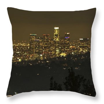 Los Angeles Throw Pillow by Gilbert Artiaga