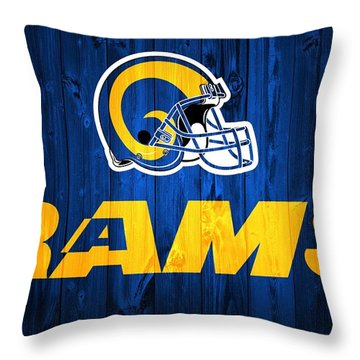 Los Angeles Rams Barn Door Throw Pillow