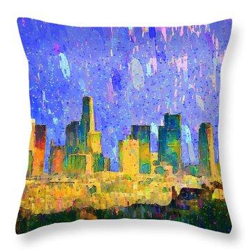 Los Angeles Skyline 5 - Da Throw Pillow