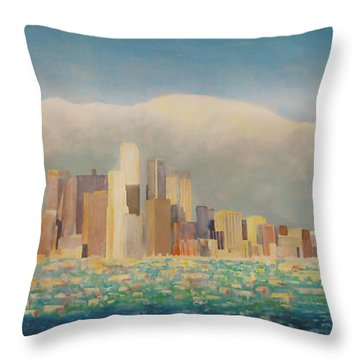 Los Angeles Sunset Throw Pillow