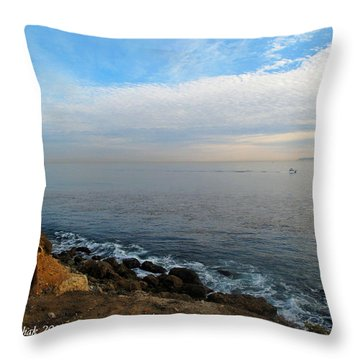 Throw Pillow featuring the photograph Los Angeles Sunset by Joan  Minchak