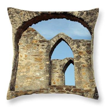 Los Arcos De La Mision San Jose Throw Pillow by Joe Jake Pratt