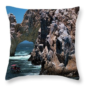 Los Arcos In Baja California Mexico Throw Pillow