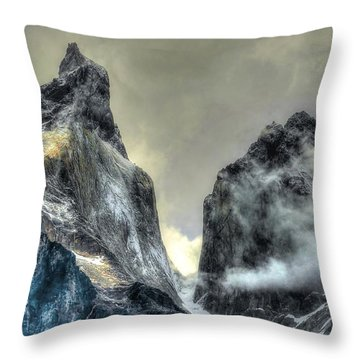 Los Cuernos-the Horns Throw Pillow