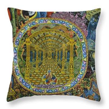 Shamanism Throw Pillows