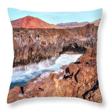 Los Hervideros - Lanzarote Throw Pillow