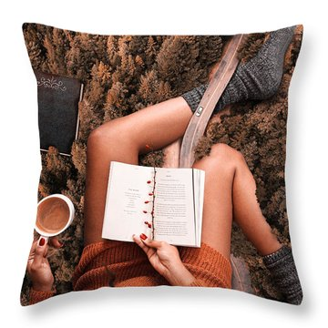 Lose Yourself In A Good Book Throw Pillow